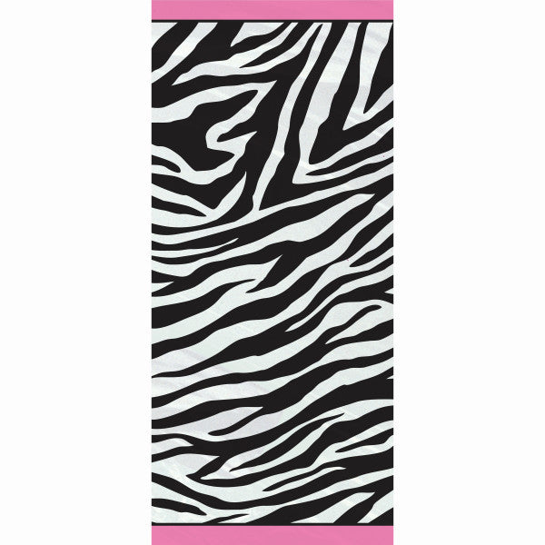 Party Gift Bags With Twist Ties Zebra Design, 20-ct.
