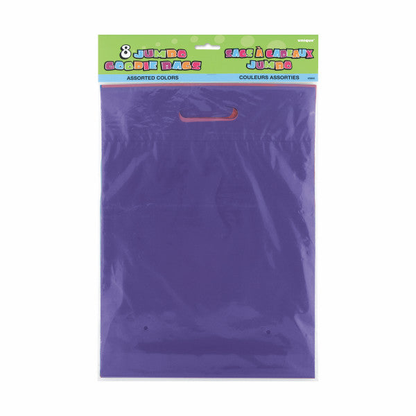 Jumbo Multicolor Goodie Gift Bags, 8-ct.
