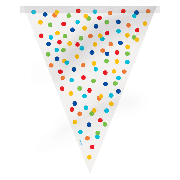 Flag Banner Colorful Dots Design, 12 ft.