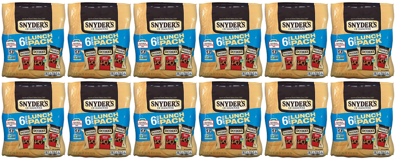 Snyder's 6 Count Lunch Pack Mini Pretzels, 3.0 oz (Pack of 12)