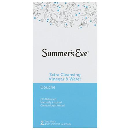 Summer's Eve Extra Cleansing Vinegar & Water Douche, 2 Pack, 4.5 fl oz.