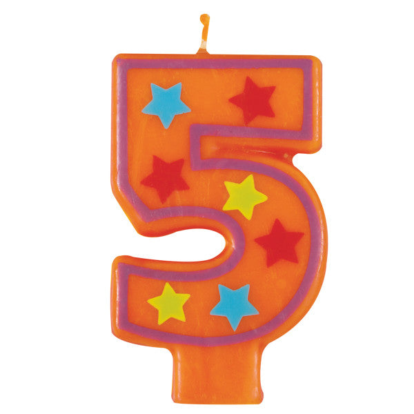 Happy Birthday Colorful Design Candle Number 5