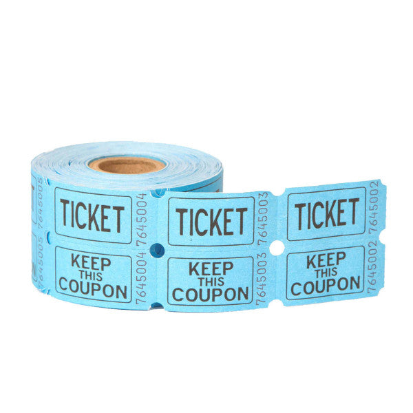 Double Ticket Roll Blue, 500-ct.