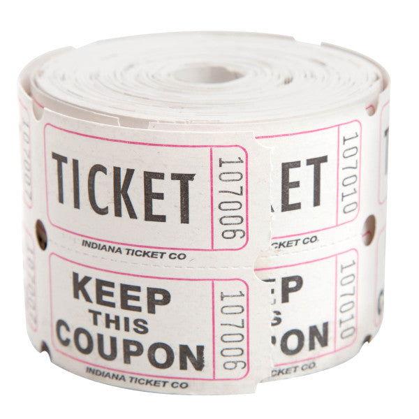 Double Ticket Roll White, 500-ct.