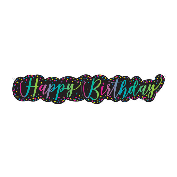 Happy Birthday Banner Neon, 4.5 ft.