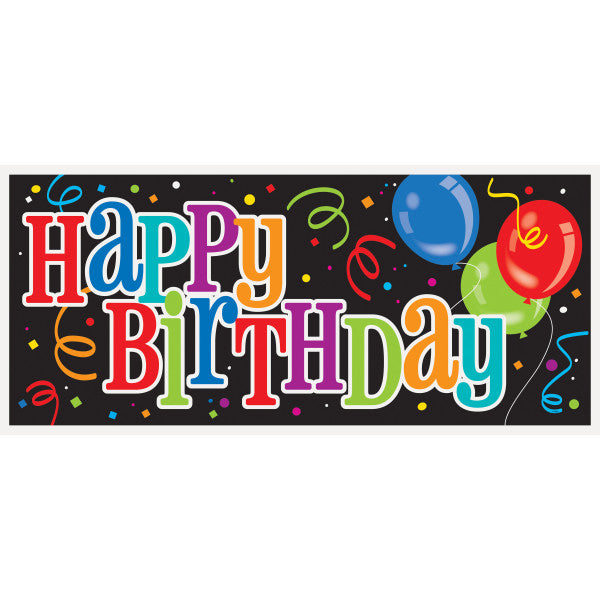 Happy Birthday Giant Banner Design, 5 ft. x 2.5 ft.