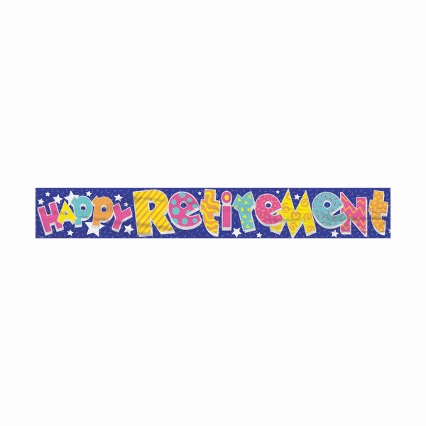 Happy Retirement Party Banner, 12 ft.
