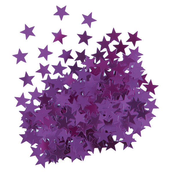 Star Shaped Confetti Purple, 0.5 oz.