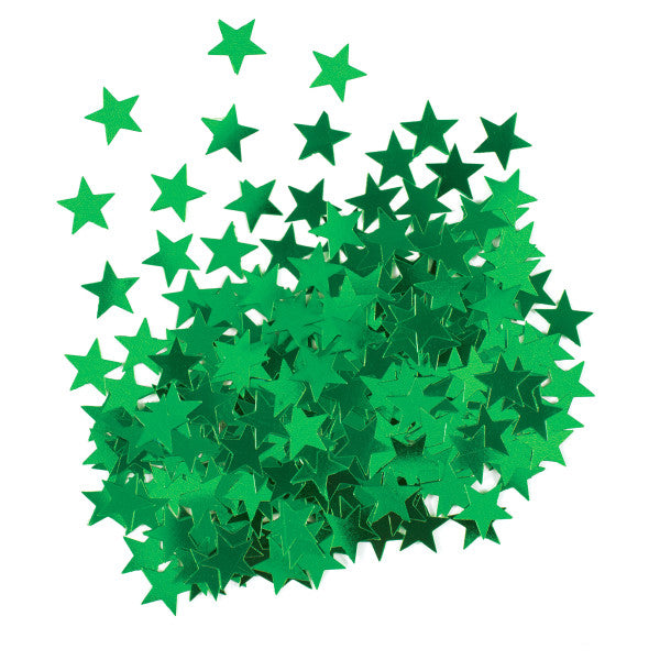 Star Shaped Confetti Green, 0.5 oz.