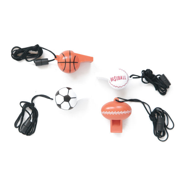 Sports Whistles Party Favors, 4-ct.