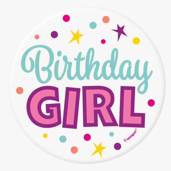 Birthday Girl Button Party Favor