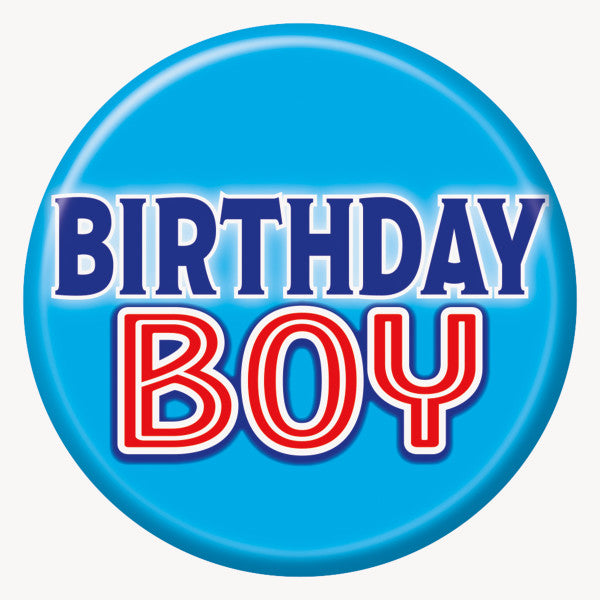 Birthday Boy Button Party Favor