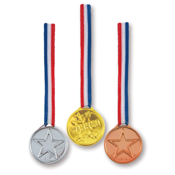 Winner's Medals Party Favors, 3-ct.