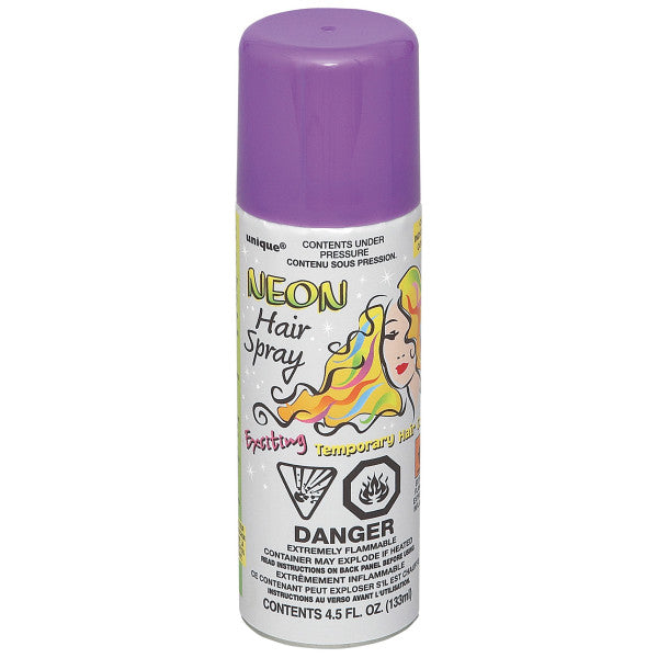Neon Hair Spray Purple Party Favor