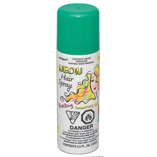 Neon Hair Spray Green Party Favor
