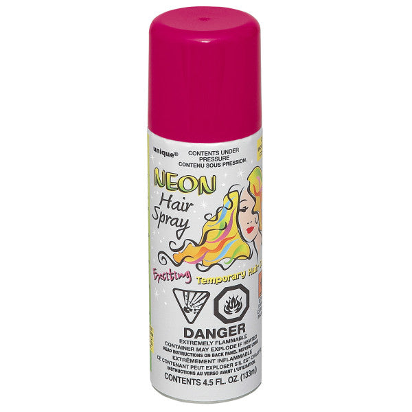 Neon Hair Spray Pink Party Favor