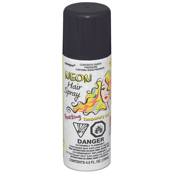Neon Hair Spray Black Party Favor