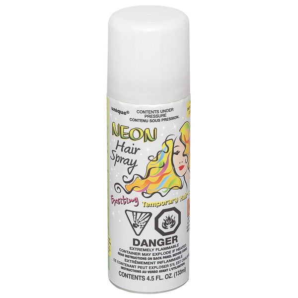Neon Hair Spray White Party Favor