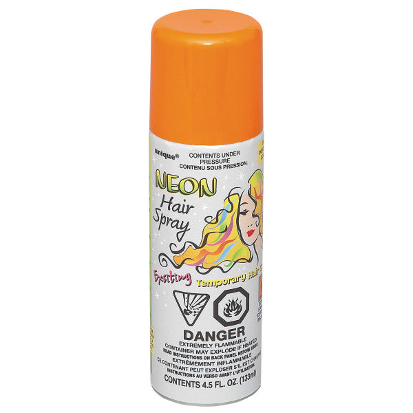 Neon Hair Spray Orange Party Favor