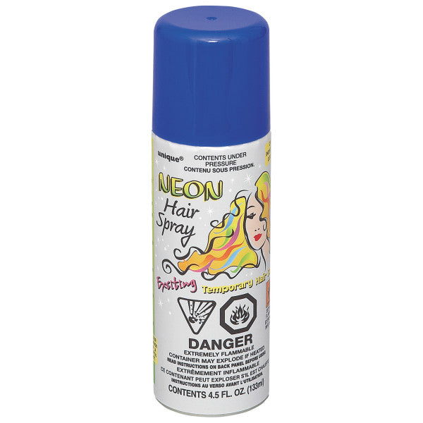 Neon Hair Spray Blue Party Favor