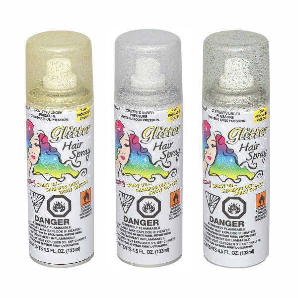 Glitter Hair Spray Party Favors, 1-ct.