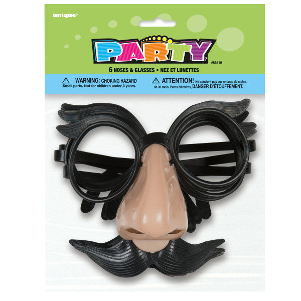 Noses and Glasses Disguise Party Favors, 6-ct.