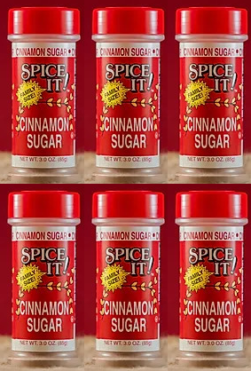 Spice It Family Size Cinnamon Sugar, 3 oz (Pack of 6)
