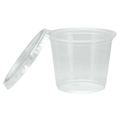 5.5 oz. Plastic Portion Cup with Lid - Clear - 30 Count