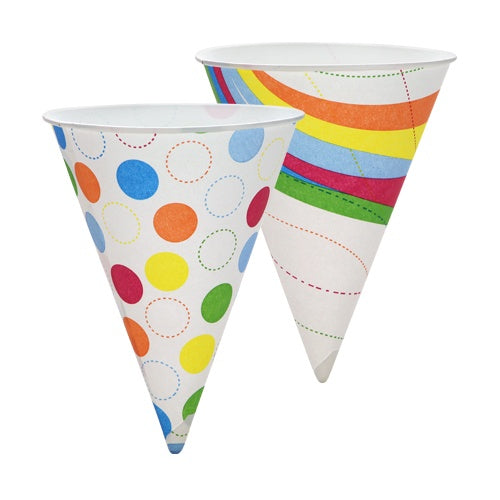 6 oz. Shaved Ice Paper Cone/Cup - 24 Count