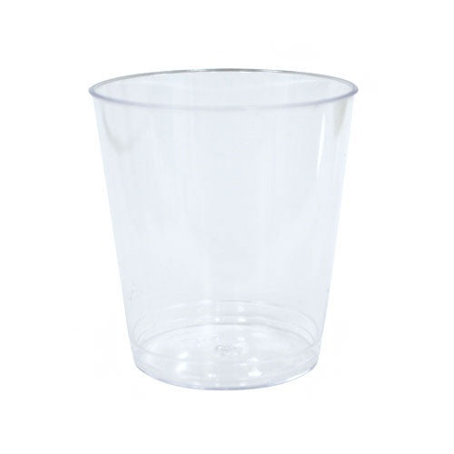 2 oz. Clear Plastic Shot Cup Tumblers, 16 Count