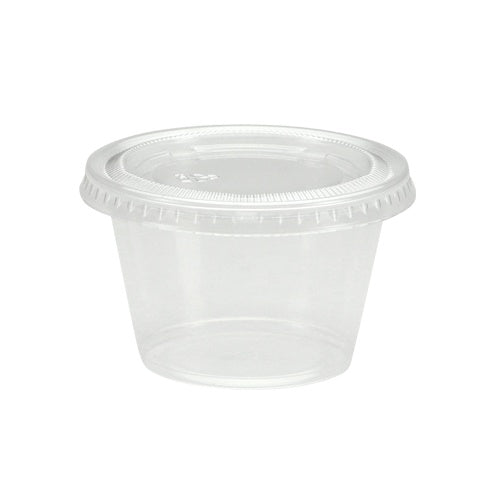 4 oz. Plastic Gelatin Cup with Lid, Clear, 16-ct.