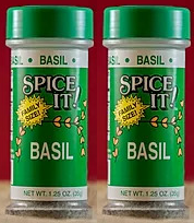 Spice It Family Size Basil, 1.25 oz (Pack of 2)