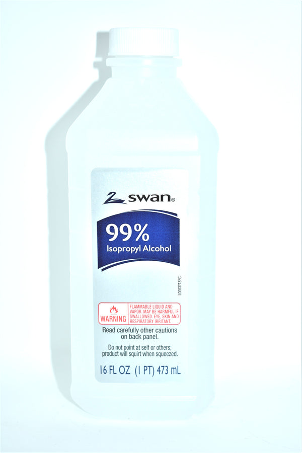 Swan 99% Isopropyl Alcohol, 16 fl oz.