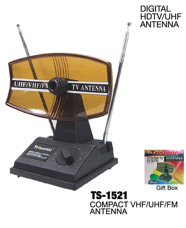 Digital HDTV/UHF/VHF Color TV Antenna, Reach Up To 55 Channels