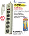 6 Outlet Power Strip Heavy Duty Surge Protector