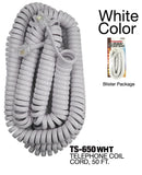 Modular Coil Phone Cord, 50 ft.