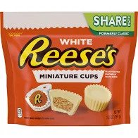 White Reese's Miniature Cups Milk Chocolate, 7.37 oz