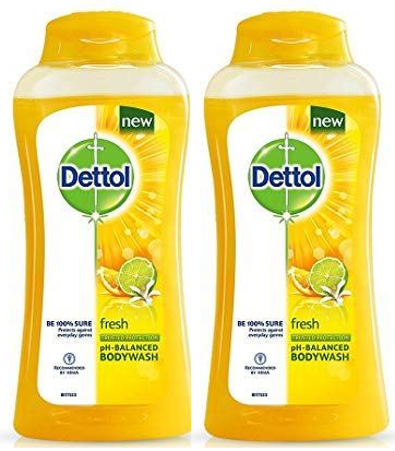 Dettol Fresh Long Lasting Odor Protection Antibacterial Body wash, 100 gm (Pack of 2)