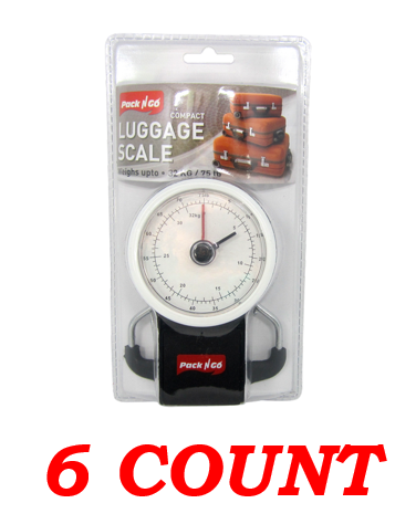 Pack N Go Compact Luggage Scale, 75 lbs. Capacity, 6-ct.