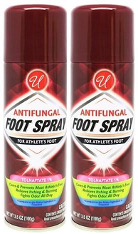 Antifungal Foot Spray For Athlete's Foot, 3.5 oz (Pack of 2)
