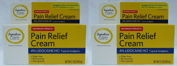 Signature Care Maximum Strength Pain Relief Cream 2.7 oz (EXP 04/20) (Pack of 2)