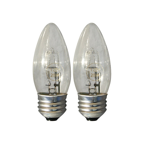 25 Watts (40 Watts Equivalent) Halogen Light Bulb, 2-ct.