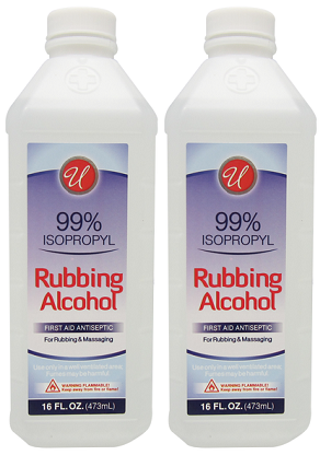 99% Isopropyl Rubbing Alcohol, 16 fl oz. (Pack of 2)