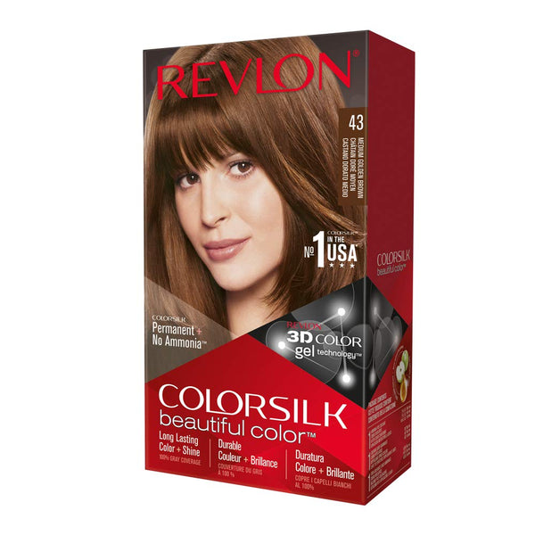 Revlon ColorSilk Beautiful Color™ Hair Color - 43 Medium Golden Brown