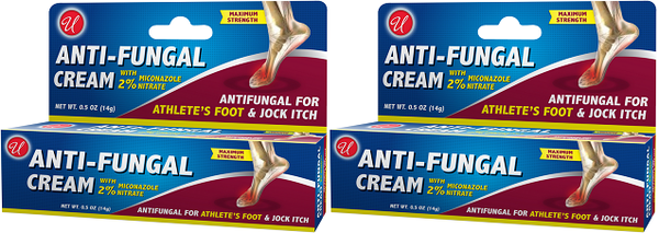 Anti-Fungal Cream with 2% Miconazole Nitrate, 0.5 oz. (Pack of 2)