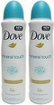 Dove Mineral Touch Anti-Perspirant Body Spray, 150 ml (Pack of 2)