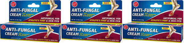 Anti-Fungal Cream with 2% Miconazole Nitrate, 0.5 oz. (Pack of 3)
