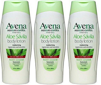 Avena Aloe Savila Body Lotion Regenerates & Nourishes, 17 fl oz (Pack of 3)