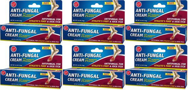 Anti-Fungal Cream with 2% Miconazole Nitrate, 0.5 oz. (Pack of 6)