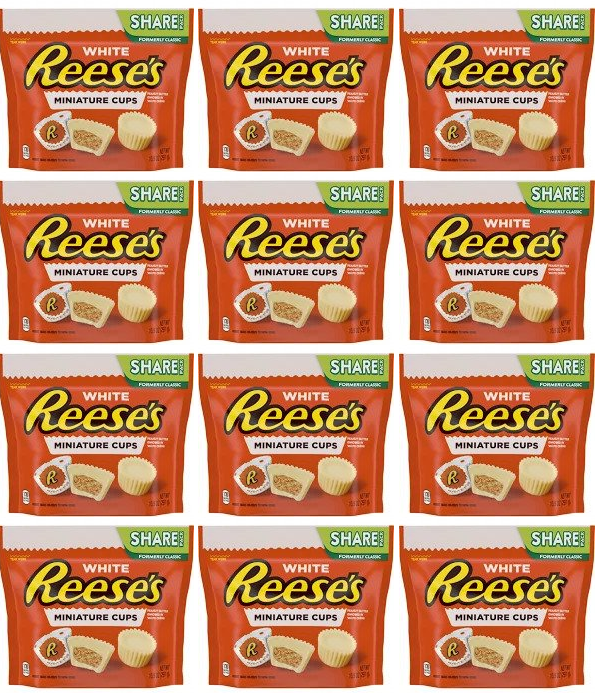 White Reese's Miniature Cups Share Pack, 10.5 oz. (Pack of 12)